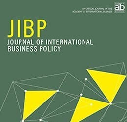 Cover Design of the Journal of International Business Policy