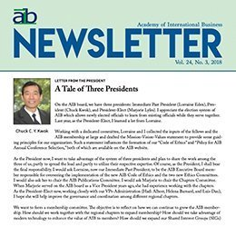 cover page of the aib newsletter