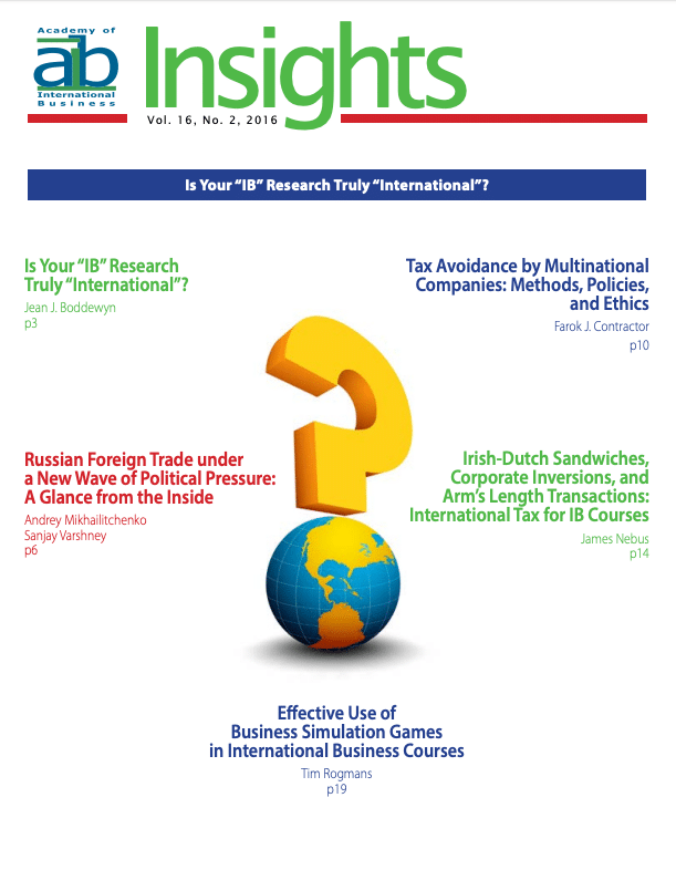 aib insights volume 16 issue 2 cover