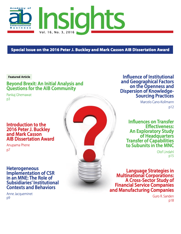 aib insights volume 16 issue 3 cover