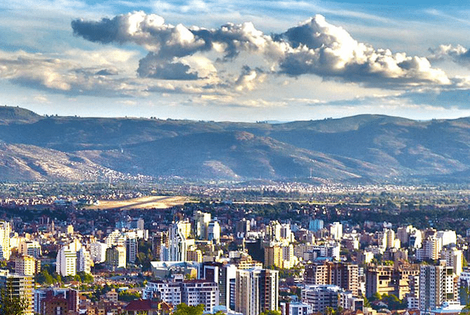city skyline in cochabamba bolivia
