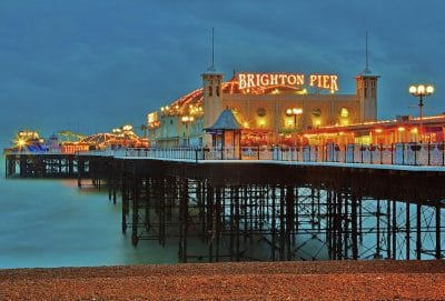 A beach in Brighton, England, site of the 2019 AIB UK & Ireland Chapter Conference