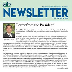 cover of the aib newsletter in quarter 4 of 2018