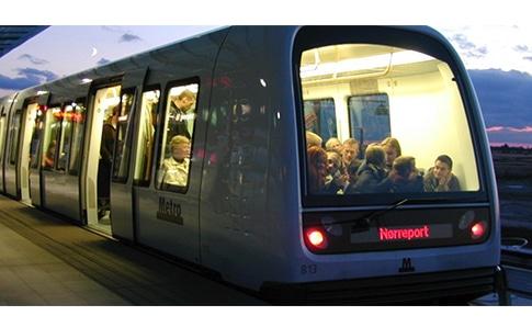 a copenhagen metro train