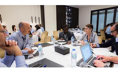 participants in AIB's professional development center