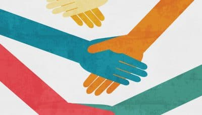 graphic of people shaking hands