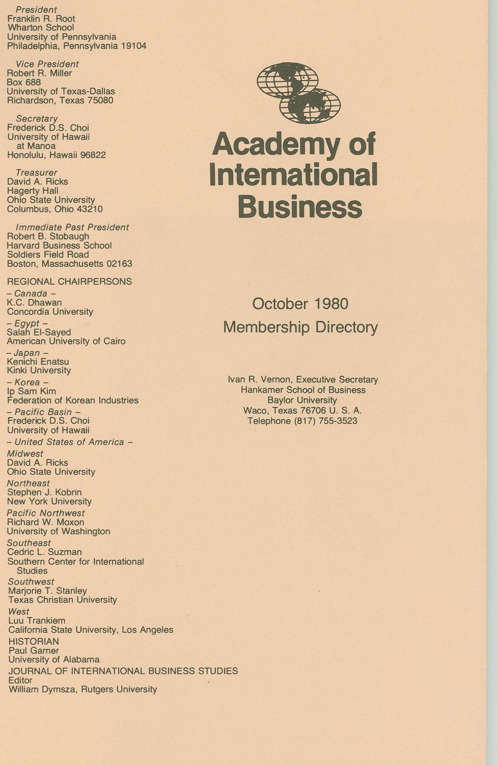 1980 AIB Member Directory
