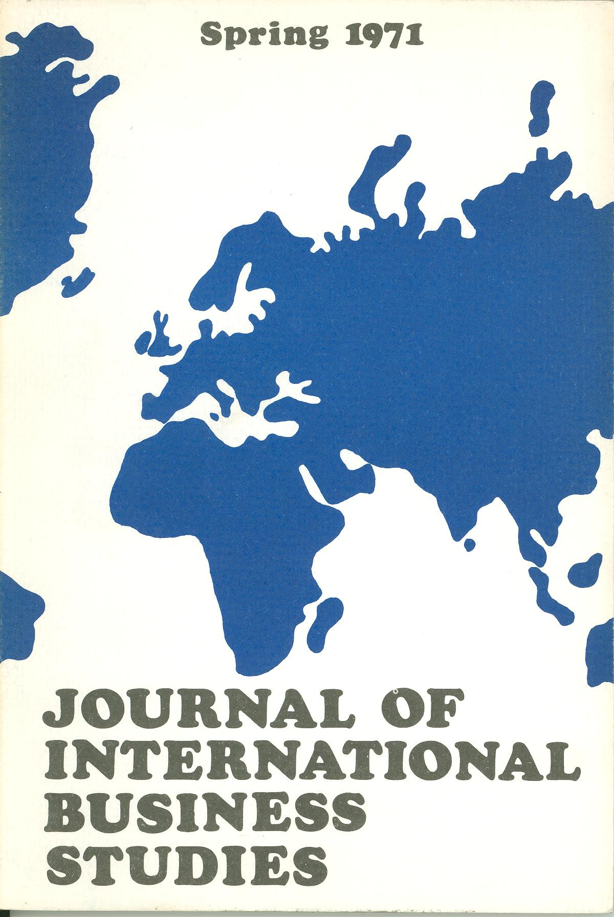 Cover design from a 1971 issue of JIBS