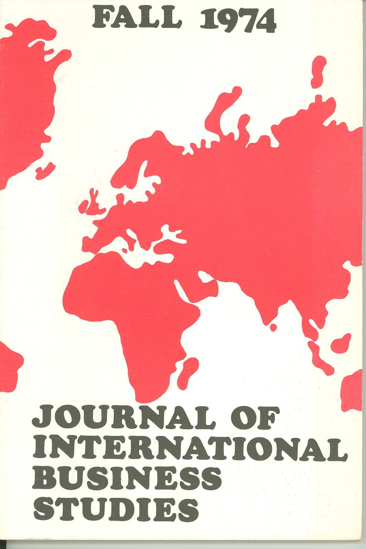 Cover design from a 1974 issue of JIBS
