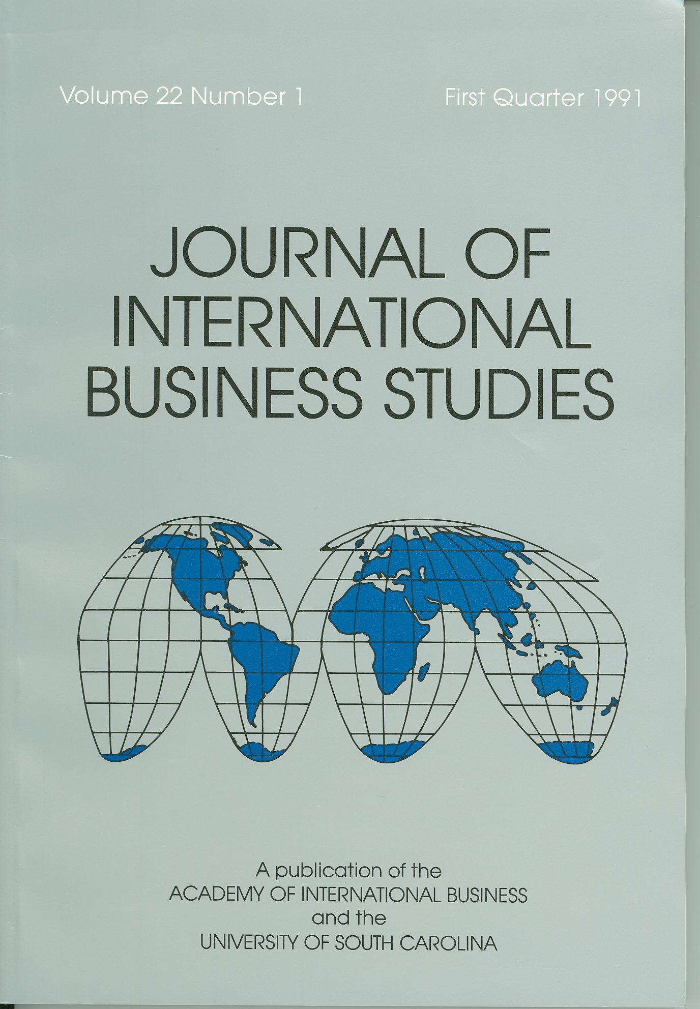 Cover design from a 1991 issue of JIBS