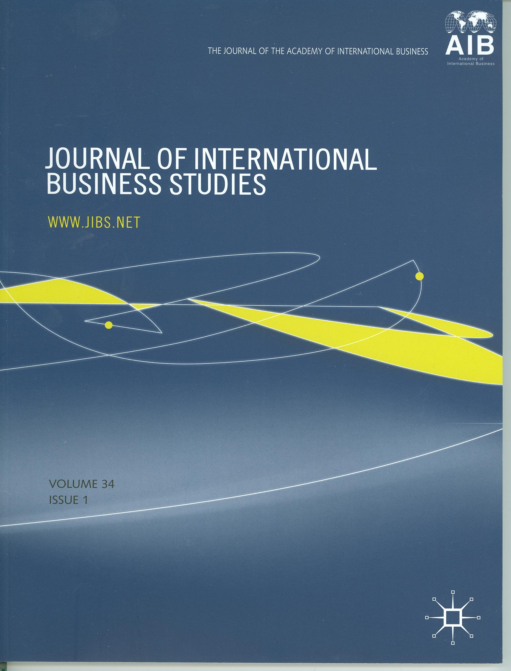 Cover design from a 2003 issue of JIBS