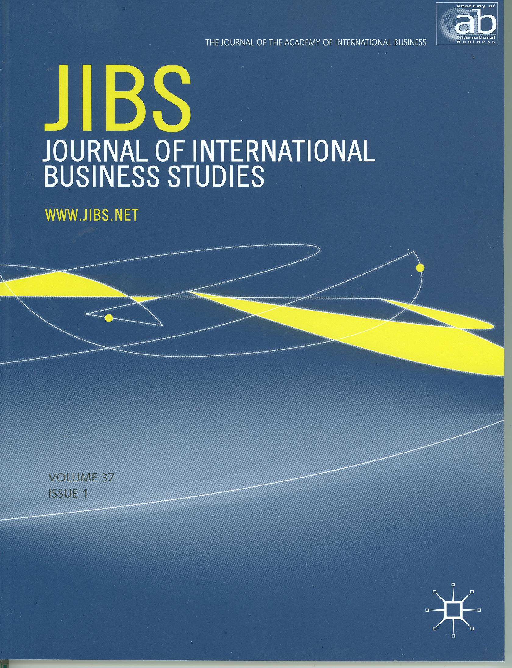 Cover design from a 2008 issue of JIBS