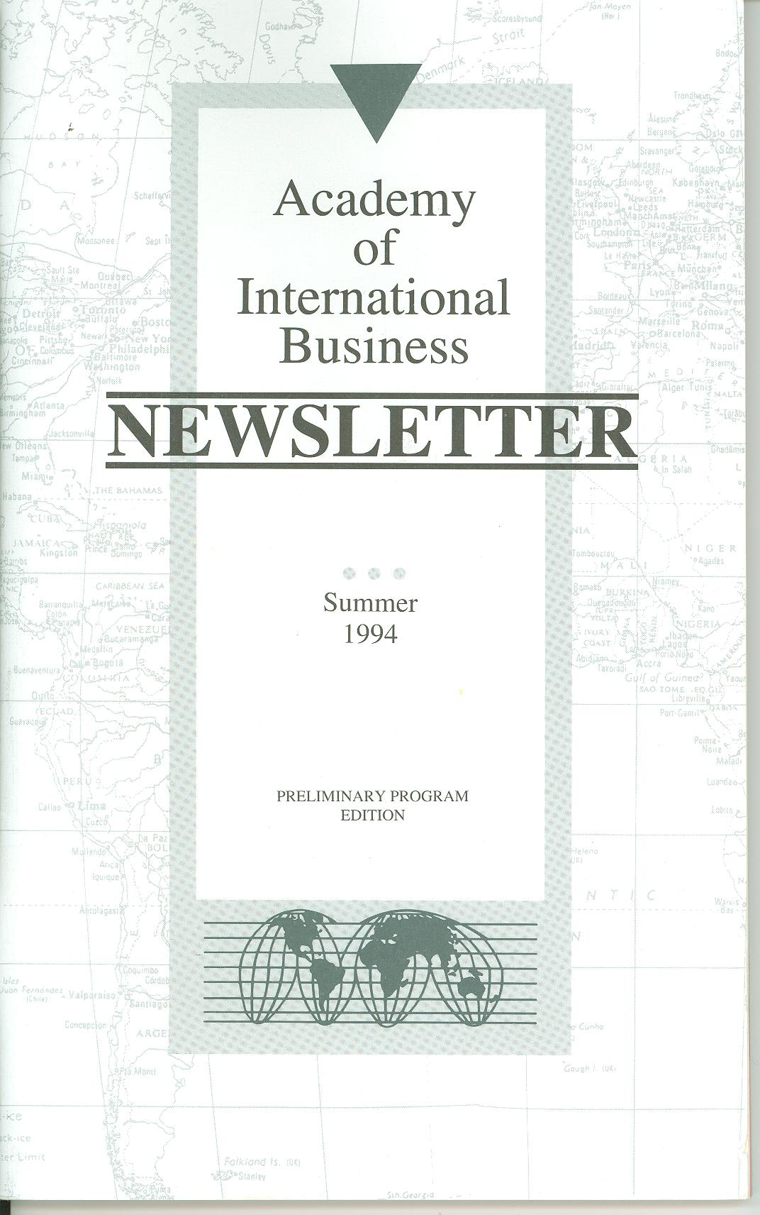 Cover of the 1994 AIB Newsletter