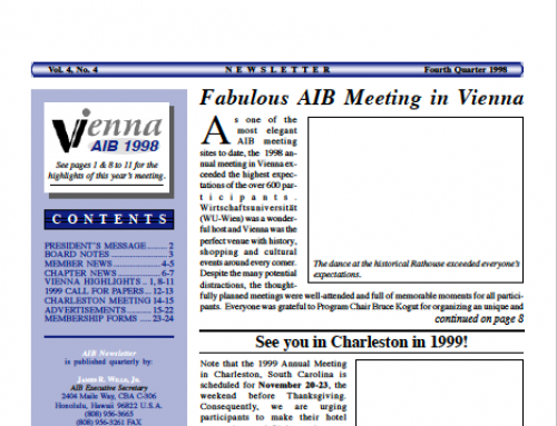 AIB Newsletter: Vol. 4, Issue 4