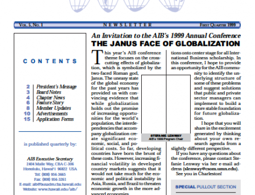 AIB Newsletter: Vol. 5, Issue 1