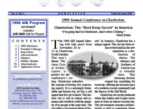 AIB Newsletter: Vol. 5, Issue 3