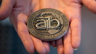 award medal with aib logo