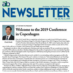 AIB Newsletter cover quarter 2 2019