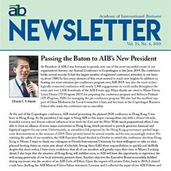 newsletter cover for 4th quarter 2019 issue