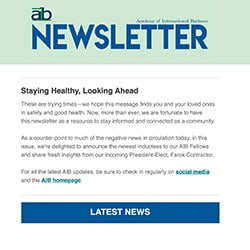 AIB newsletter issue 2, 2020 cover