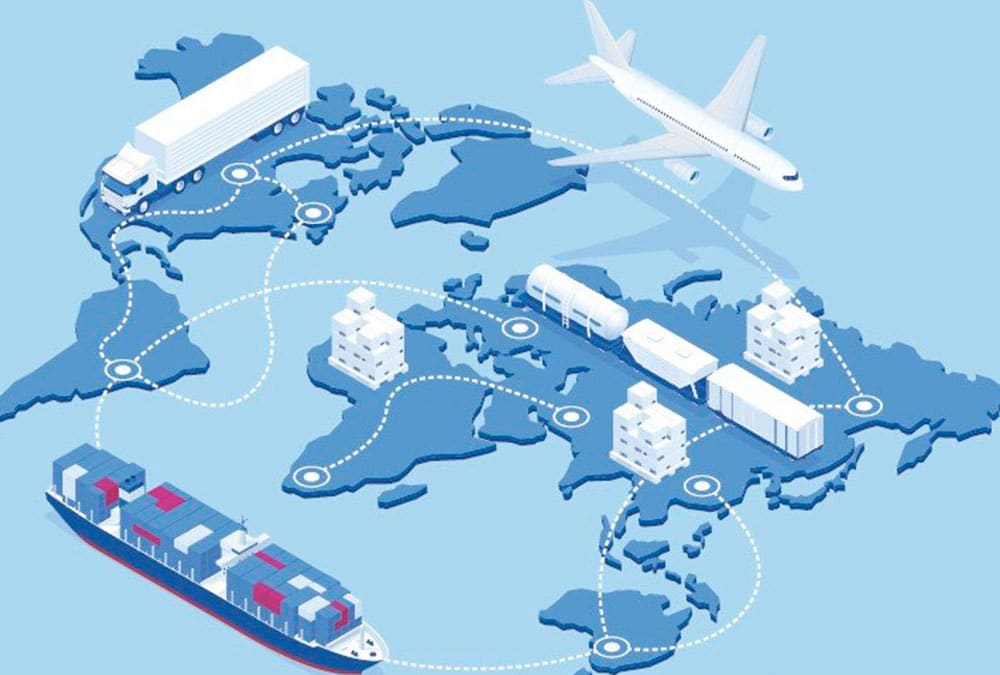 illustration of a global value chain