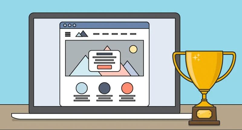 illustration of an online award presentation