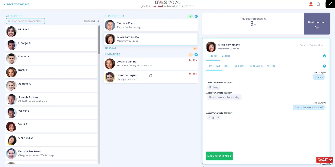 an illustration of the various communication options available on the meeting hub