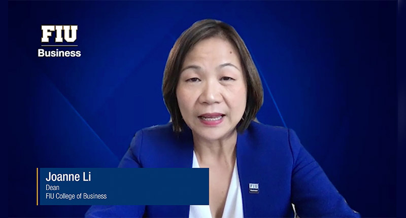 FIU Business School Dean Joanne Li introducing our 2021 conference