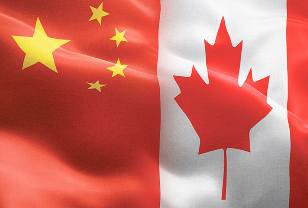 graphic combining chinese and canadian flags