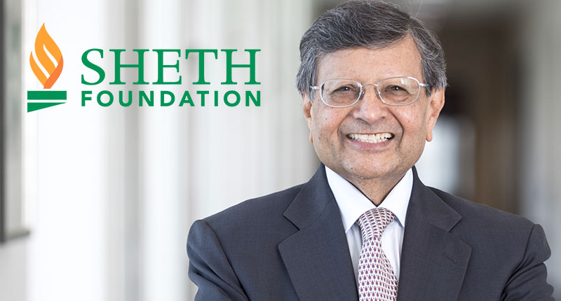 Sheth Foundation founder and logo