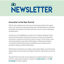cover of the AIB newsletter, 2020 Issue 3