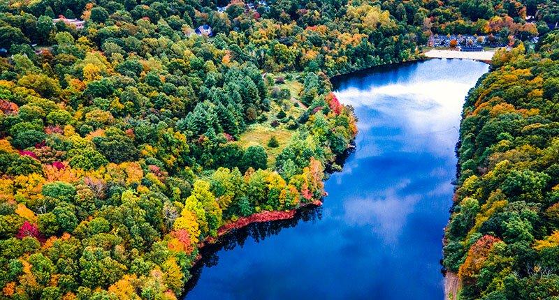 Mohegan Lake in Connecticut