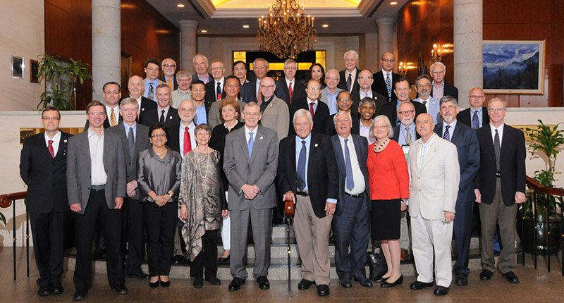 A group photo of several AIB Fellows