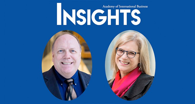 Bill Newburry, Elizabeth Rose, and the AIB Insights logo
