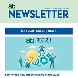 AIB newsletter issue 2, 2021 cover