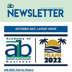 AIB newsletter issue 3, 2021 cover
