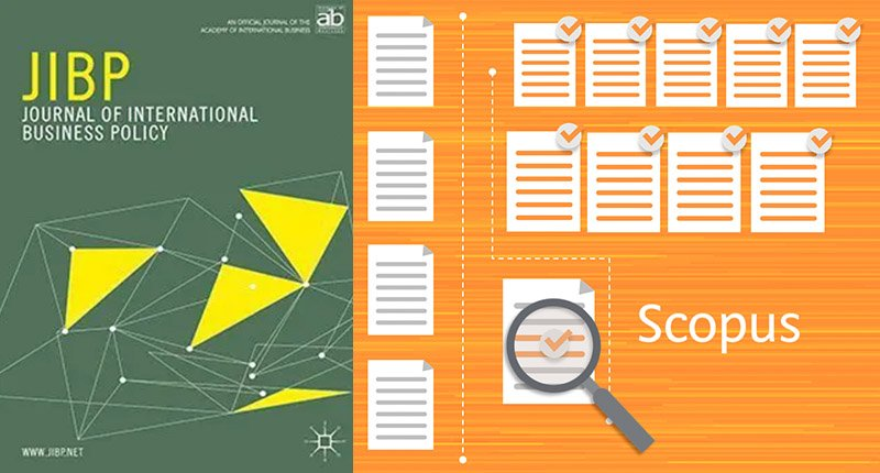 journal of international business policy and scopus logos